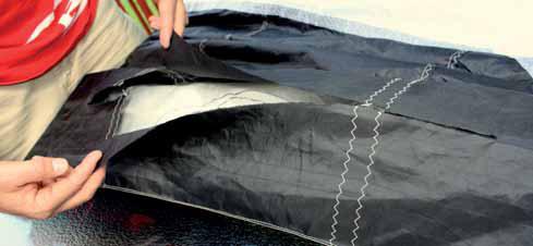 Opravy vzpěr a náběhových hran kitů