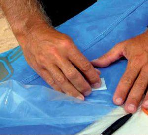 Očistěte lihovými tampóny